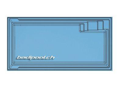 7.75×3.55×1.50m | XL-AQUA NOVA 77 | Flachboden