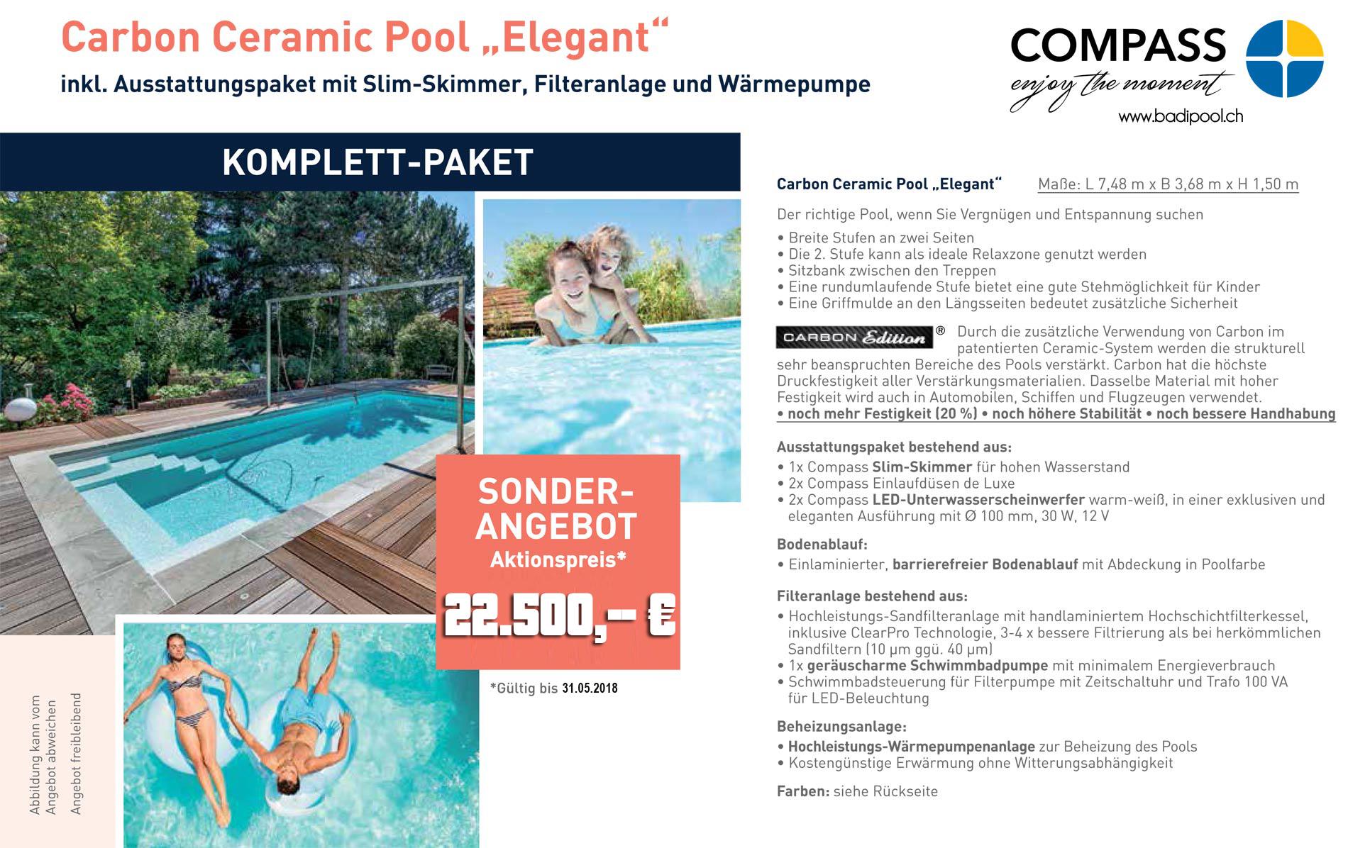 Compass pool elegant aktion 2018 compasspools schweiz for Pool im angebot